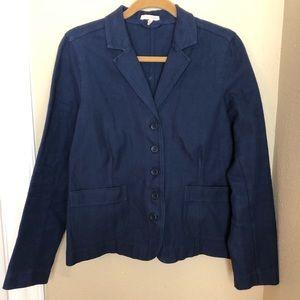 Eileen Fisher baby blue blazer size medium M